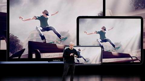 Apple-sjef Tim Cook brukte det norske spillet Skate City under lanseringen av Apple Arcade tirsdag kveld.