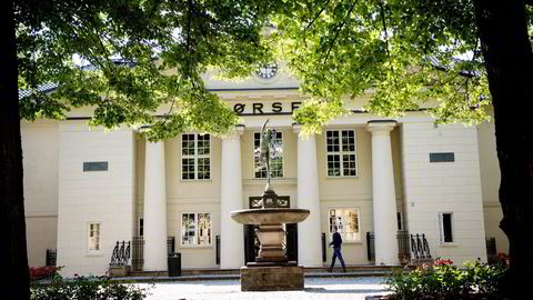 Hovedindeksen på Oslo Børs endte ned 0,96 prosent torsdag. Foto: Mikaela Berg