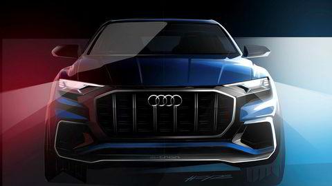 Dette er de første offisielle designskissene av Audi Q8 concept.