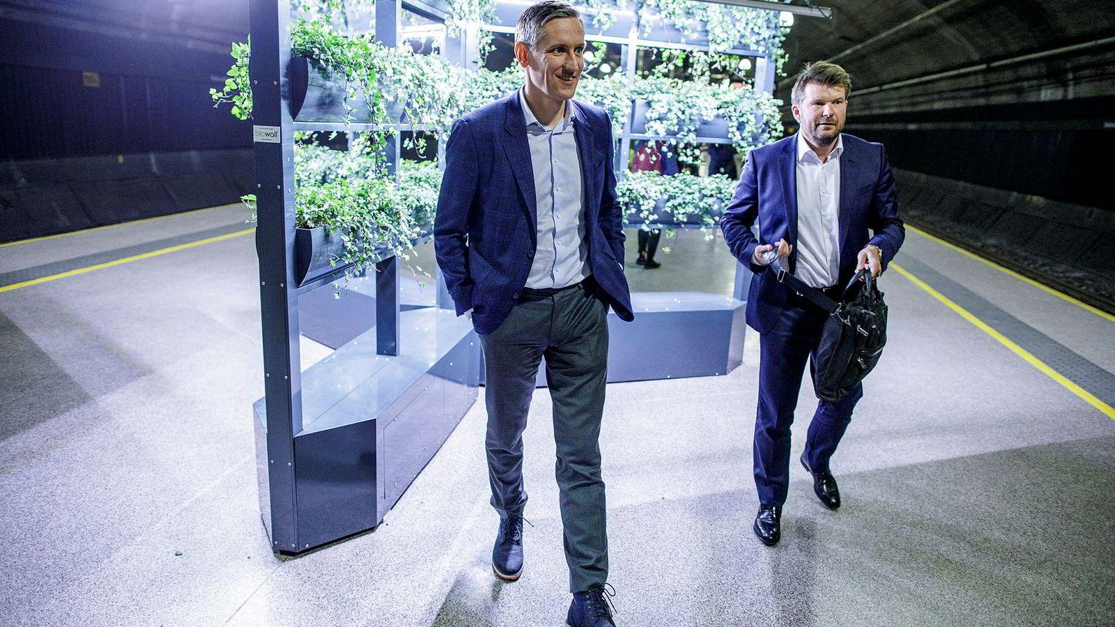 Christian Melby (til venstre) og Reynir Kjær Indahl i Summa Equity har hentet inn seks milliarder kroner som skal investeres i tråd med FNs bærekraftsmål.