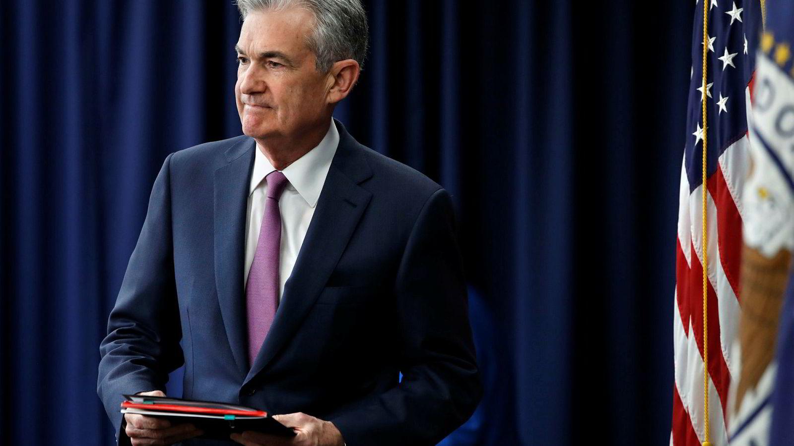 USAs sentralbanksjef Jerome Powell.