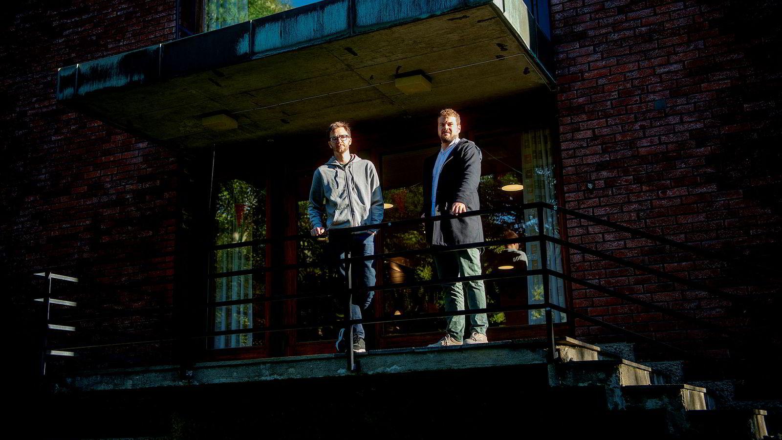 Førsteamanuensis Tore Wig (til venstre) og doktorgradsstipendiat Haakon Gjerløw er kritiske til pr-byrået Zynks analyseverktøy Q-ball.