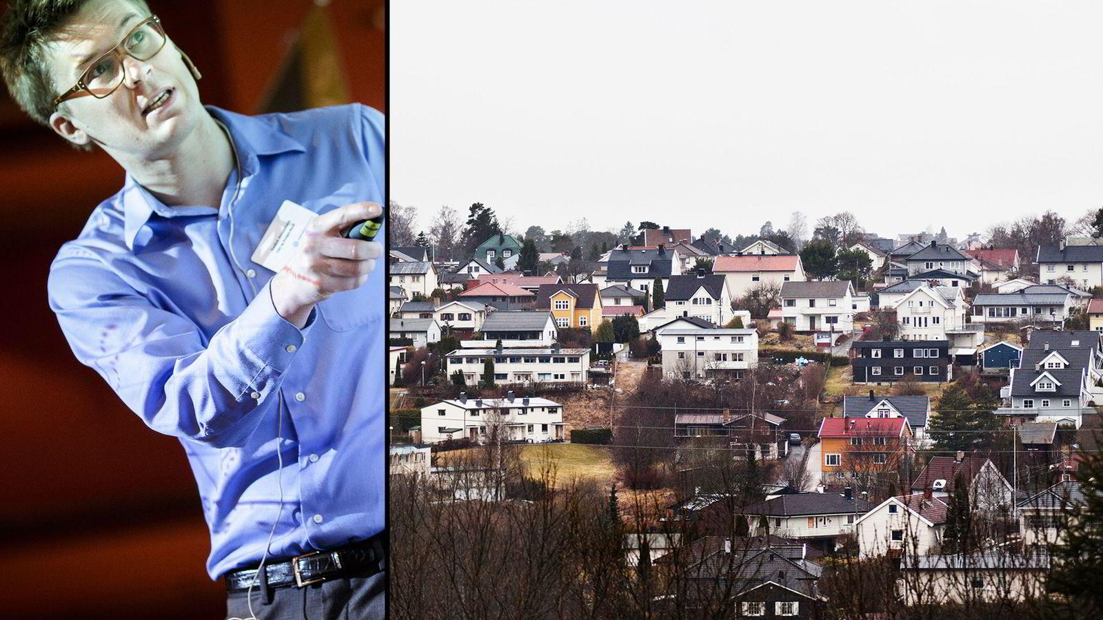 FØLGER MED: André K. Anundsen har forsket på bobletendenser i boligmarkedet. Arkivbilde.