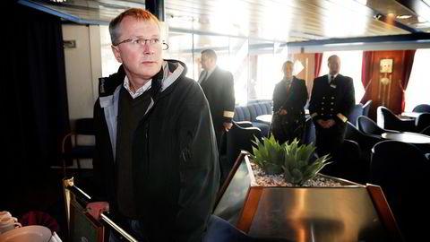 NY HAVNEKRANGEL. Fjord Line, her ved administrerende direktør Ingvald Fardal, ber nå Kystverket gripe inn og bestemme seilingstidene fra Sandefjord havn.                    Foto: Anders Martinsen
