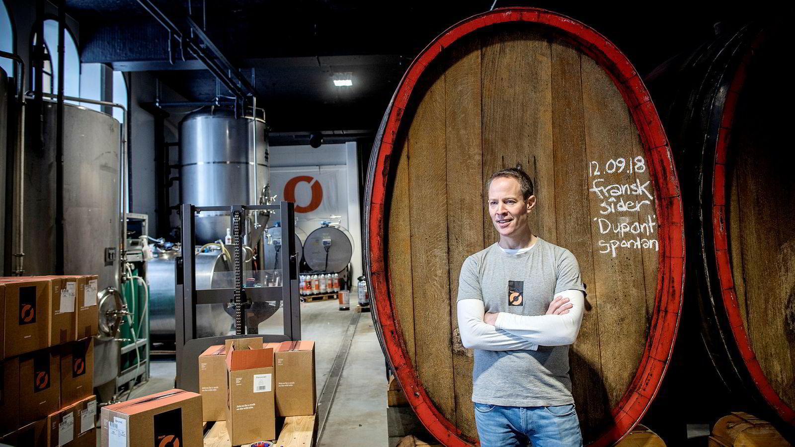 Sverre Orm Øverland er daglig leder for bryggeriet Nøgne Ø i Grimstad.