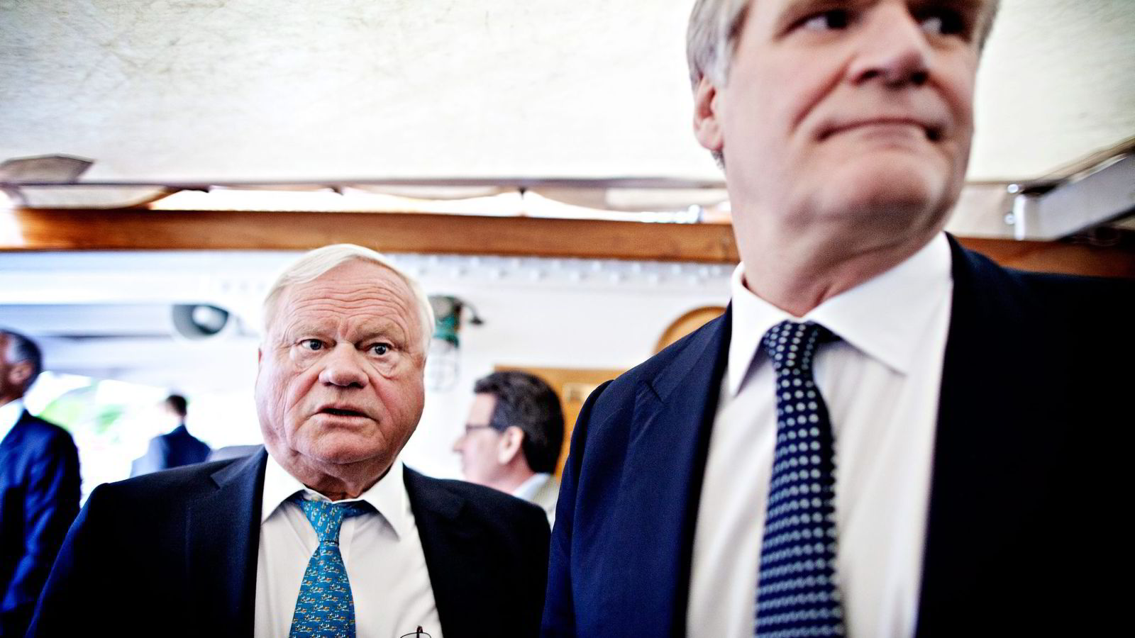 SLUTT. Tor Olav Trøim (til høyre) går fra alle styreverv i John Fredriksens selskaper. Foto: Ida von Hanno Bast