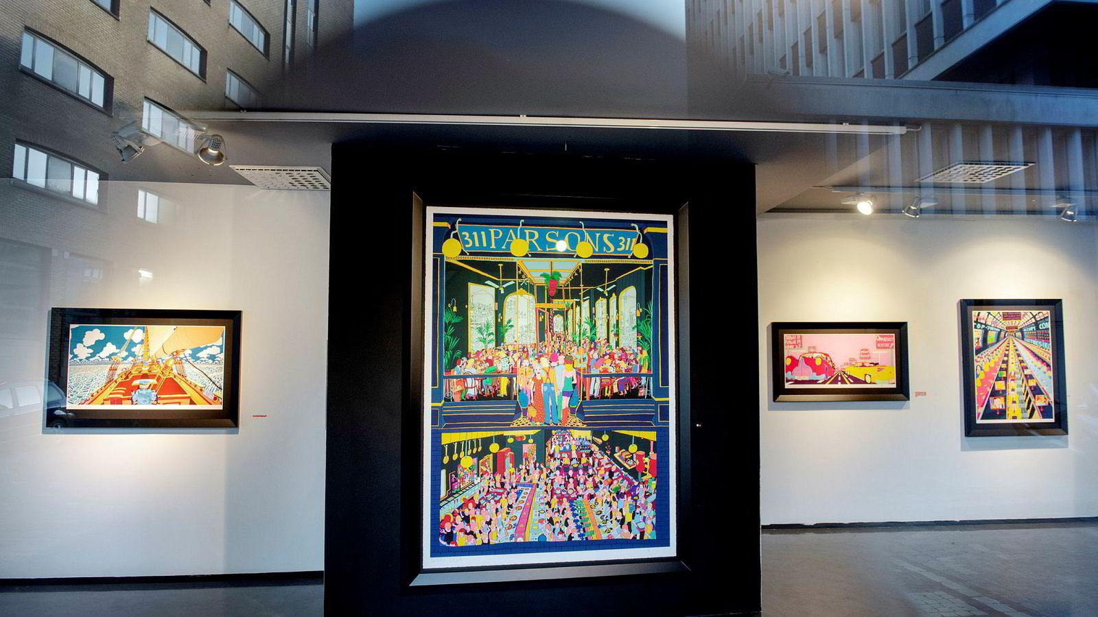 «Parsons» er et av verkene som er trykket opp etter Pushwagners død, og som ble solgt for 470.000 kroner på Galleri Vault i Bergen.