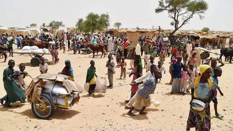 FN og Leger Uten Grenser slår alarm i det nordlige Nigeria. Her fra flyktningeleiren Asanga i Nigeria. Foto: Manu Brado/AP/NTB Scanpix