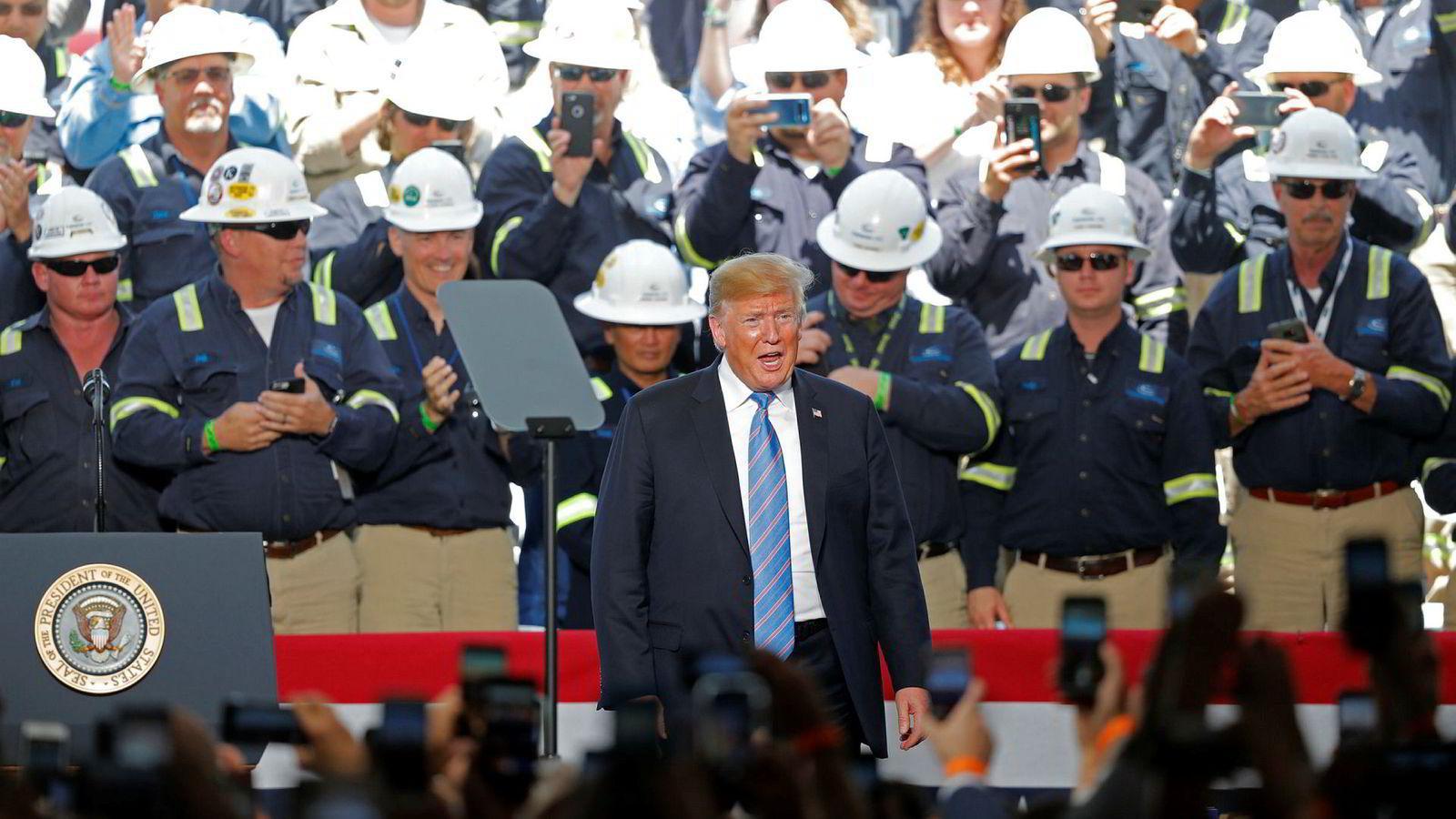 – USA er sparegrisen som alle har utnyttet eller forsynt seg fra. Vi kan ikke la det fortsette, sa president Donald Trump på tirsdag.