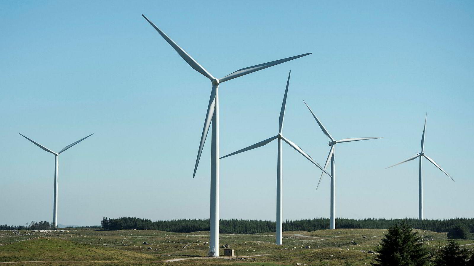 Ser vi nærmere på hvordan vindkraftutbyggingen påvirker oss forbrukere økonomisk, blir bildet nærmest uvirkelig, skriver artikkelforfatteren. Her fra Varhaug i Rogaland.