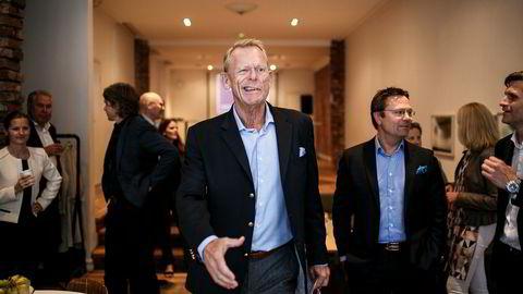 Leder i Aksjonærforeningen Bernt Bangstad feiret lansering av aksjesparekonto fredag.