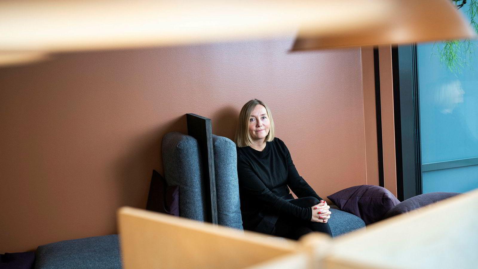 Daglig leder i Trigger, Bente Kvam Kristoffersen, i selskapets lokaler i Torggata i Oslo.