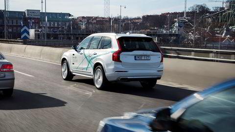 Volvo har allerede eksperimentert med selvkjørende biler en stund rundt Gøteborg. Nå får de hjelp av Uber. Foto: