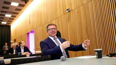 Rosenrødt for AkerBP og administrerende direktør Karl Johnny Hersvik som presenterte resultatet for siste kvartal mandag morgen.