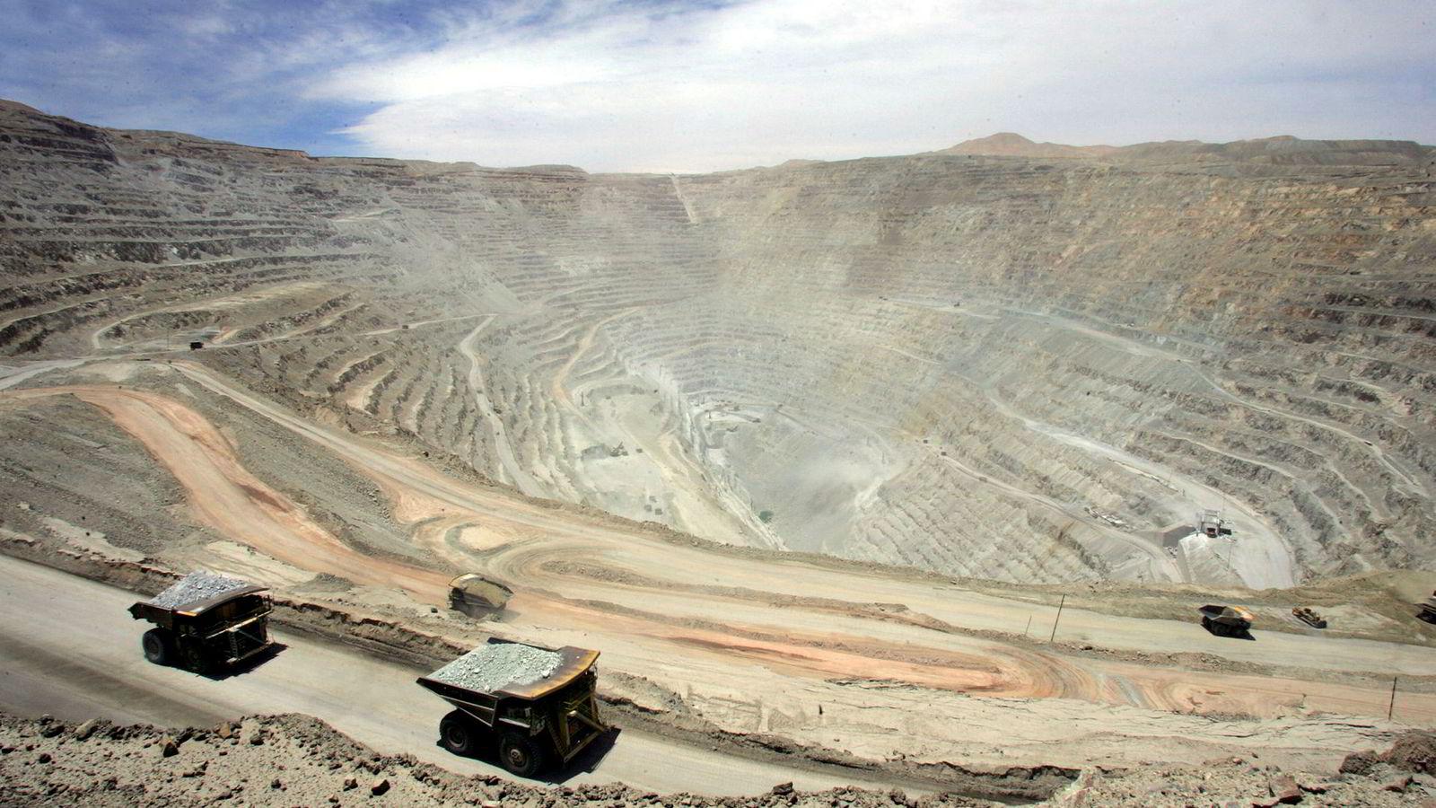 Storstreik ved den statlige Chuquicamata-gruven i Chile.