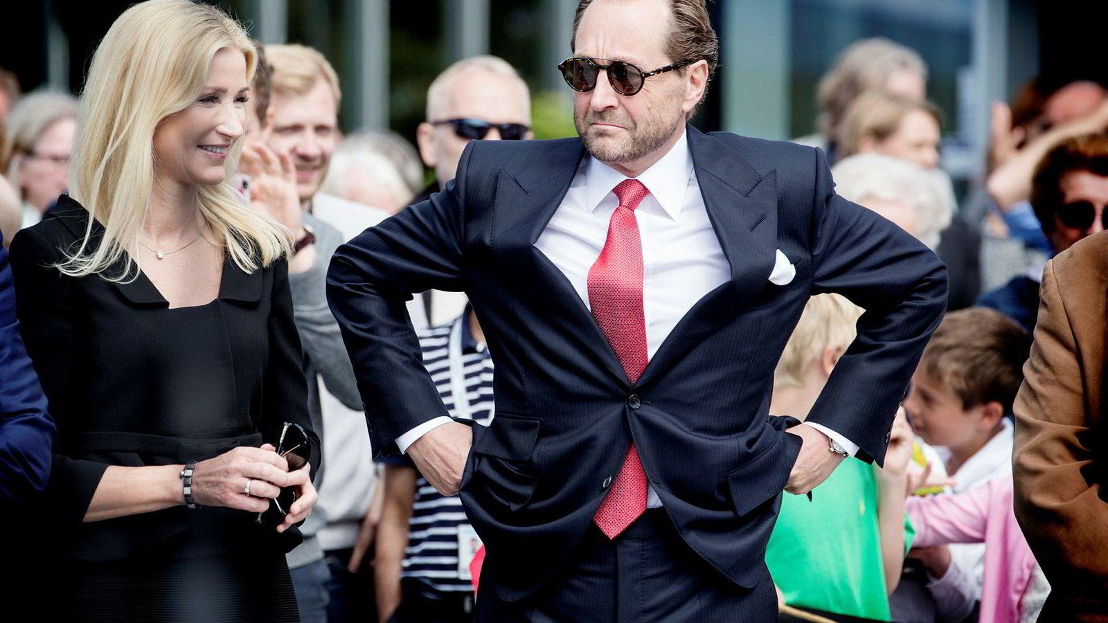 Industrieier Kjell Inge Røkke og hans kone Anne Grete Eidsvig ble nylig medlem av rikmannsklubben «The Giving Pledge».