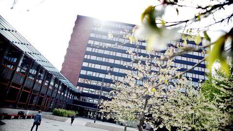 Eilert Sundtsbygg blokk A og B, ved Universitetet i Oslo Blindern.