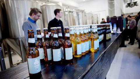 Sagene bryggeri er ett av ølselskapene der Rema har gått inn for å få et bredere utvalg i egen regi. Her fra tapperiet i Oslo.