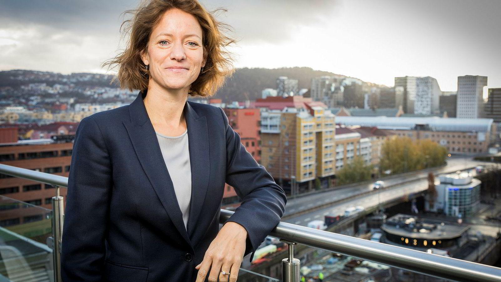 Konsernsjef Hege Yli Melhus Ask i NHST kom fra forsikringsbransjen og startet i jobben midt i fjerde kvartal.