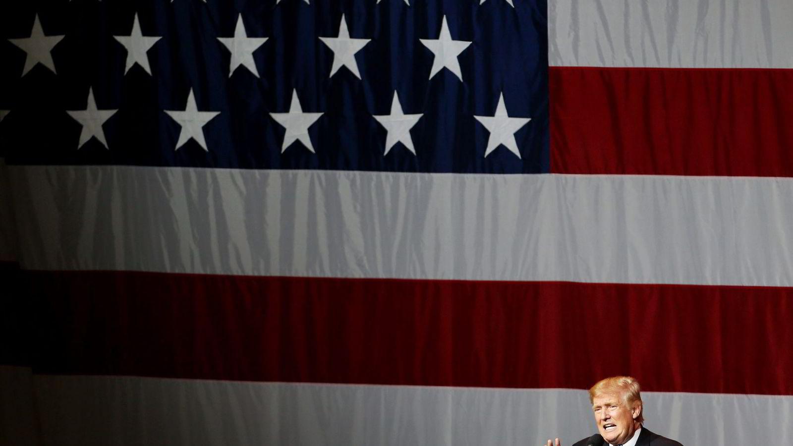 De som i høst satset penger på at realitystjernen Donad Trump skulle bli republikanernes presidentkandidat, har tjent veldig gode penger.                Foto: Tasos Katopodis/AP/NTB Scanpix