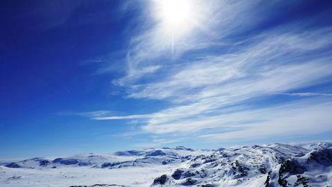 En ny studie identifiserer hovedkilden for utslipp av det ozonskadelige stoffet KFK-11-utslipp i det østlige Kina. Her: Blå himmel over Hemsedal i påsken.