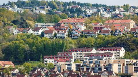 Boliger på Ekebergåsen i Oslo.