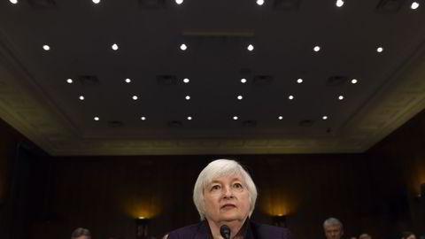 Sentralbanksjef Janet Yellen i Federal Reserve kommer med ny rentebeslutning onsdag. Foto: AP Photo/Susan Walsh
