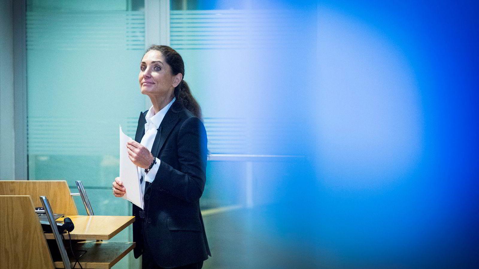 Administrerende direktør Tine Wollebekk i Norwegian Finans Holding la torsdag morgen frem resultatene til Bank Norwegian.