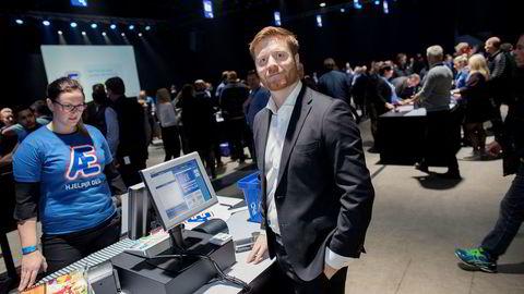 Tidligere Rema-direktør Lars Kristian Lindberg fotografert i forbindelse med presentasjonen av Rema-appen «Æ», i januar 2017. Nå skifter han beite, og blir sjef for sportsutstyrskjeden Gresvig.