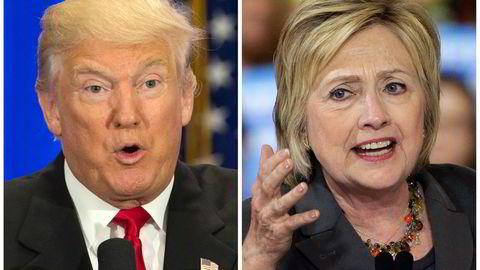 De er uenige om mye, men nå vil både republikanerne ved Donald Trump og demokratene ved Hillary Clinton regulere storbankene tøffere. Foto: AP Photo/Mary Altaffer, Chuck Burton