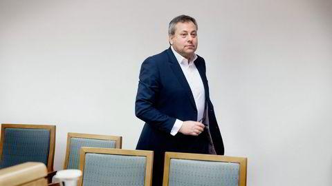 Arve Juritzen stilte uten advokat i rettssaken mellom Juritzen Forlag og Interpress i februar. Foto: Per Ståle Bugjerde