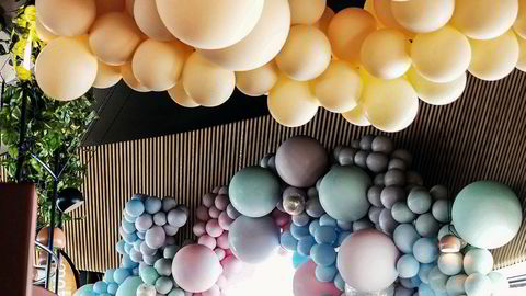 Drueklase. Ambisiøs ballongdekorasjon er blitt en greie. Her fra årets Elle-sommerfest.