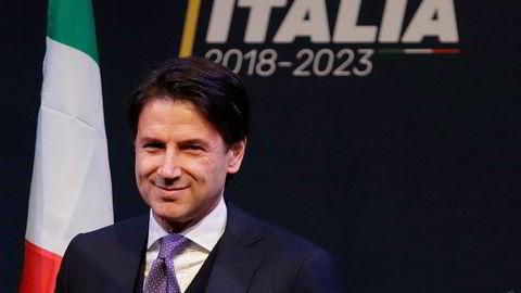 Akademikeren Giuseppe Conte er nominert som Italias neste statsminister. Foto: AP Photo/Alessandra Tarantino