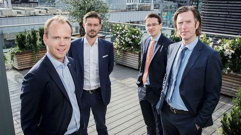 Teamet bak rapporten består av blant annet av Halvor Strand Nygård (fra venstre), Kim Andre Uggedal, Herman Lia og Terje Fatnes.