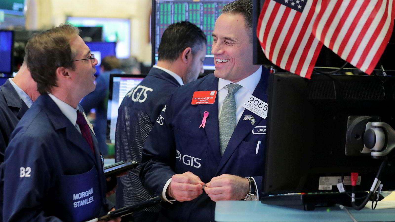 Meglerne her på gulvet i New York Stock Exchange (NYSE) kan se frem til et gyldent børsår i 2019, hvis historien gjentar seg.