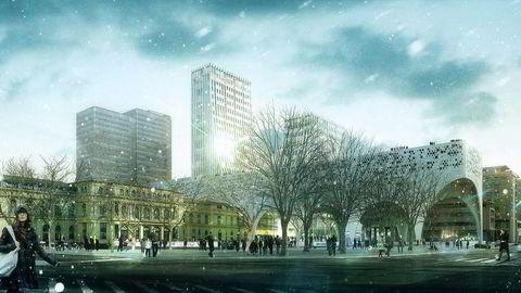 PRESTISJEFULLT.                    Arkitektfirmaet Space Group har vært involvert i flere prestisjefulle prosjekter i inn- og utland. Her deres forslag til nye Oslo S.                    Illustrasjon: Space Group