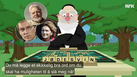 Dagsrevyen-journalist Tormod Strand (innfelt fra venstre), tidligere Afrika-korrespondent Tomm Kristiansen og Tyrkia-korrespondent Sidsel Wold er blant dem som har reagert på NRK-programmet «Satiriks»' «Jødesvin»-sketsj.
