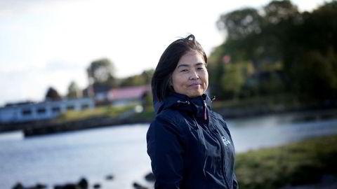 Yuhong Hermansen (50) ble sittende med to små barn og ansvaret for Det Stavangerske Dampskibsselskab etter at den 23 år eldre ektemannen Folke Hermansen døde brått i 2006.