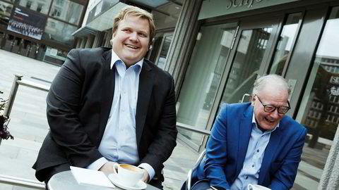 – Vi er veldig godt fornøyd med veksten, sier Lars Ryen Mill, administrerende direktør i Chili Mobil (til venstre). Ved hans side, selskapets styreleder og hovedaksjonær Egil Skibenes.
