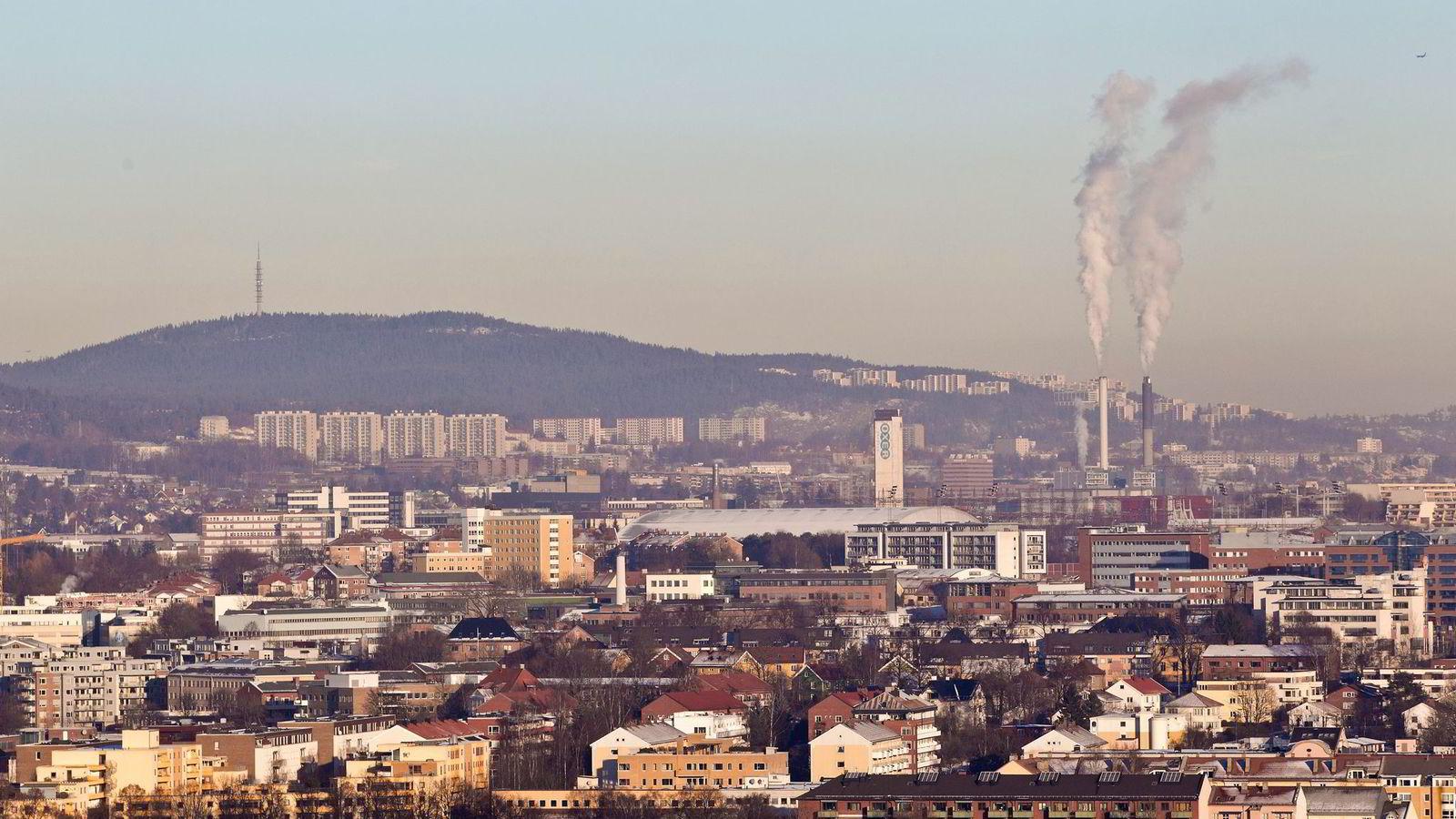 Ikke så rent som du tror. Bilde over Oslo som viser luftforurensing. Foto: Vegard Grøtt /