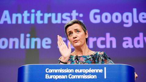 EUs konkurransekommisjonær, Margrethe Vestager, har vært hard mot de største teknologiselskapene som bruker millioner av kroner på lobbyvirksomhet.