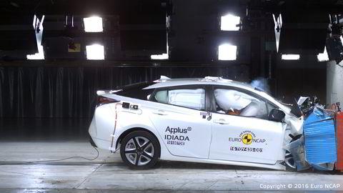 Toyota Prius gjør det bra i Euro Ncaps kollisjonstest. Foto: Euro Ncap