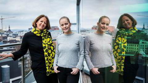 Fra venstre Eva Grinde og Nora Rydne.