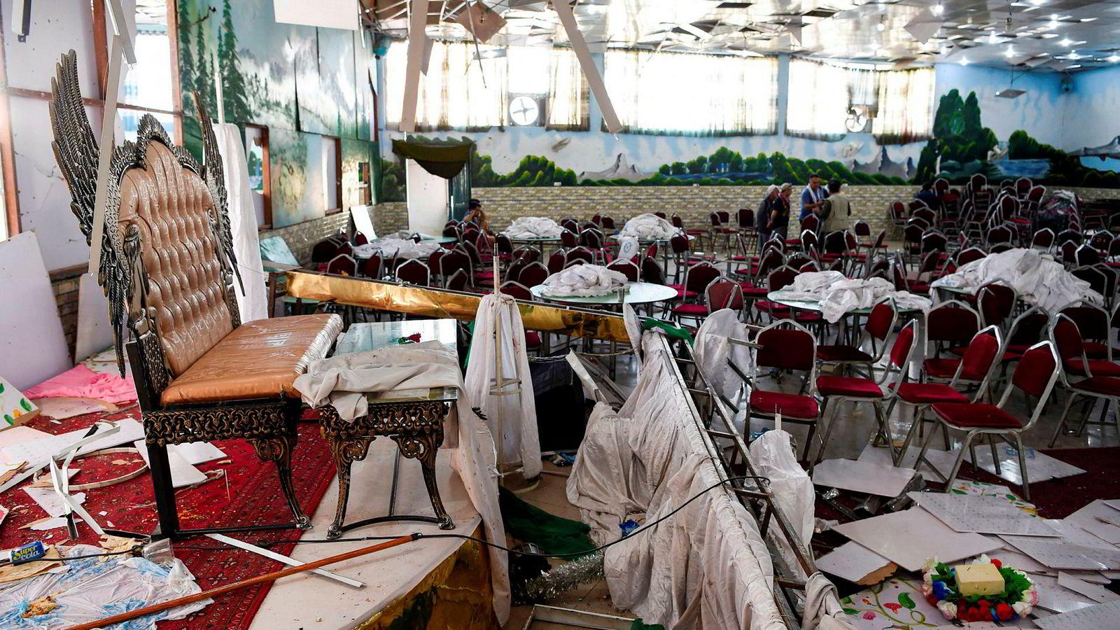 IS tok på seg ansvar for terrorangrepet mot et bryllup i Kabul 18. august. Antall drepte har nå steget til 80.