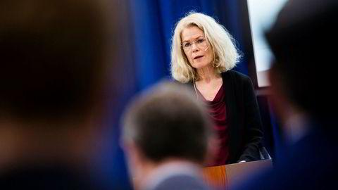 Brochmann-utvalgets utredning om konsekvensene av innvandring på norsk velferd legges frem av professor Grete Brochmann.