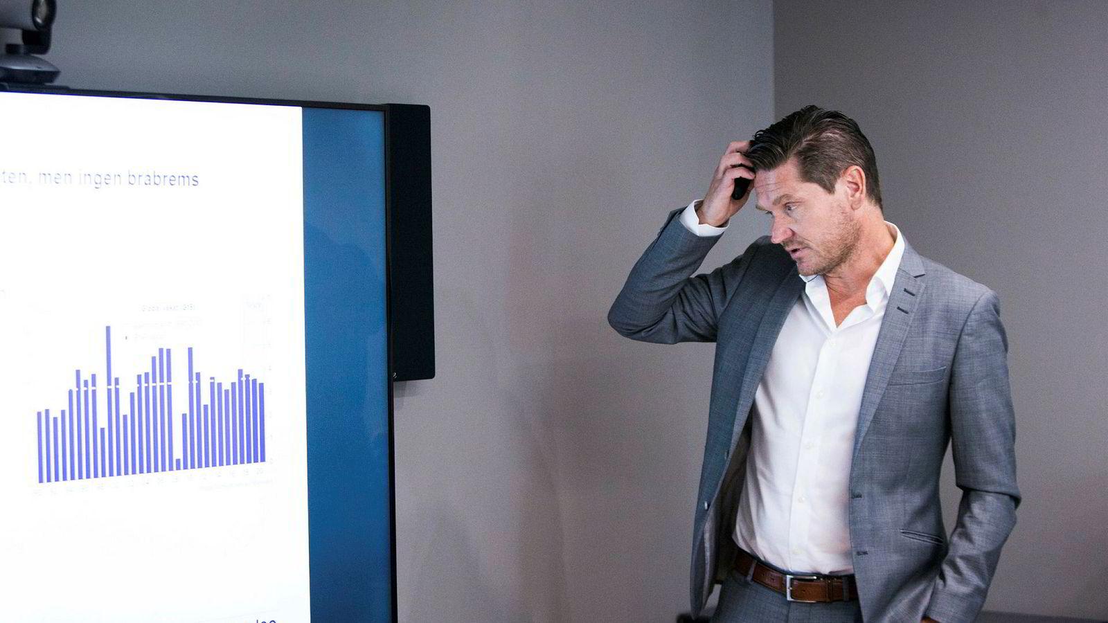 Sjeføkonom i Nordea Markets, Kjetil Olsen, spår at renten skal stige kraftig i de neste årene. Nordea Markets offentliggjorde onsdag 5. september oppdaterte prognoser for norsk og internasjonal økonomi i makrorapporten Nordea Economic Outlook.