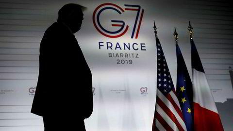 President Donald Trump deltar på G7-møtet i Frankrike, og bidrar i stor grad til å drive markedet.