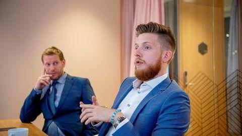 Petter Stordalens pr-byrå Storm Communications kjøper opp teknologiselskapet PVM House, som lager personaliserte videoer for bedriftskunder. Gründer er 23 år gamle Ronald Griffin. Til venstre Øyvind Kvamme-Vik, ansvarlig for kommunikasjon i PVM.