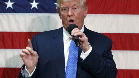 Trump under en tale tidligere denne uken. Foto: AP Photo/ Evan Vucc/NTB SCANPIX