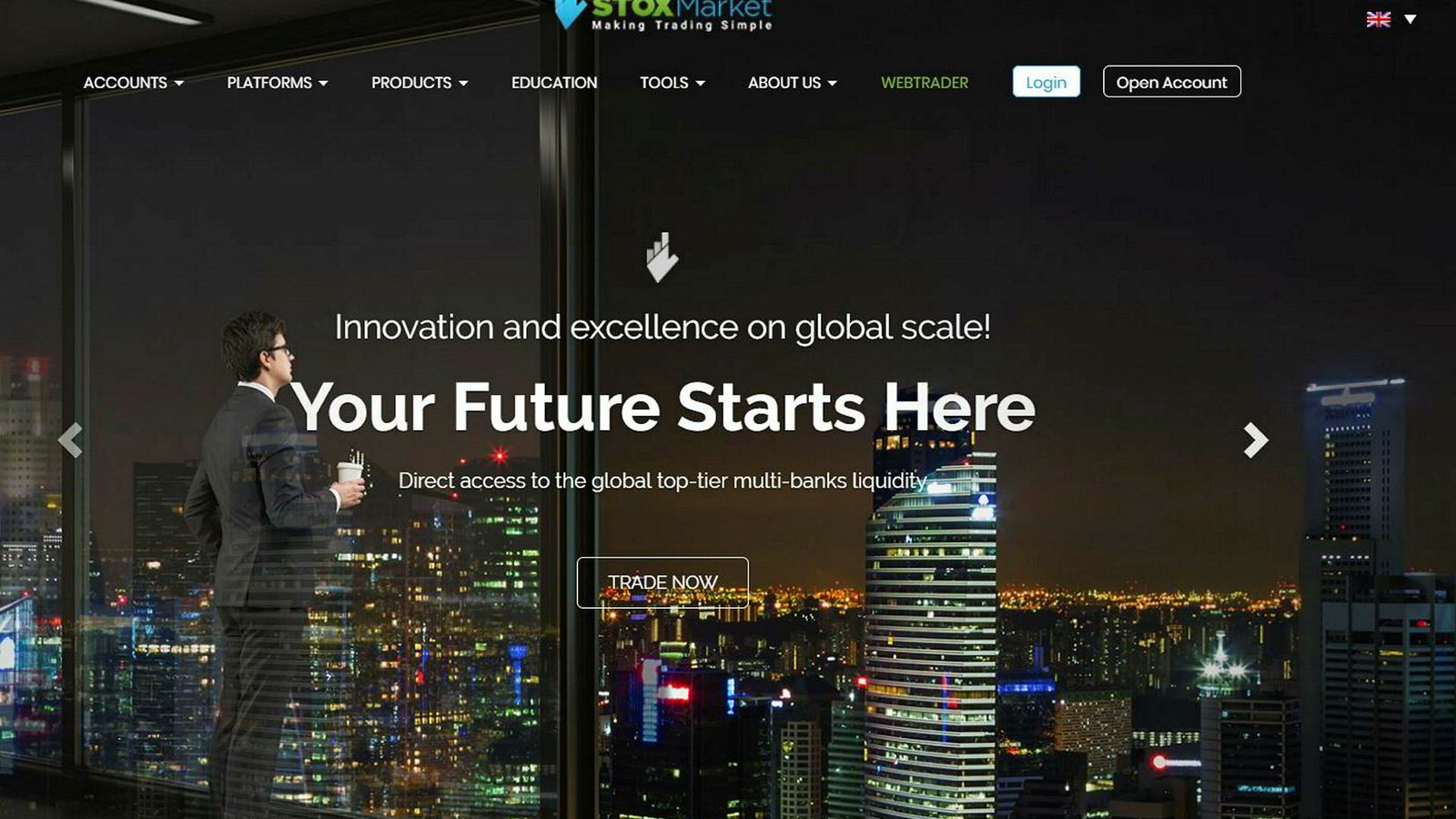 Stoxmarket.com er blant investeringsplattformene som er falske, ifølge DNB.